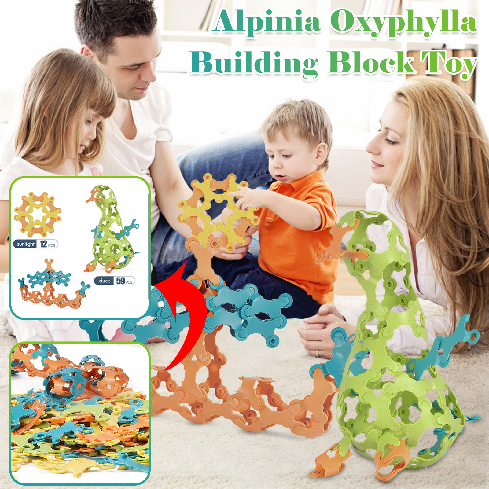 Children's Puzzle Toys Variety of Tuo Rice Blocks Puzzle and Insert Toys Multicolor Building Blocks Irregular Building Block Toy