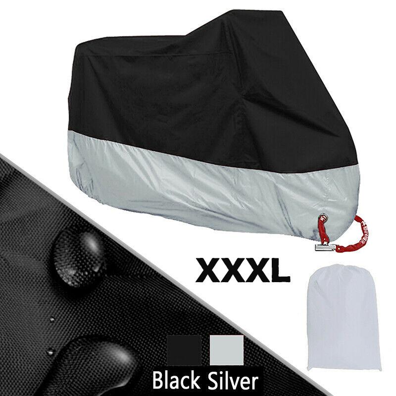 2X Motorcycle Cover Waterproof Outdoor Bike Rain Dust UV Protector Extra Large B
