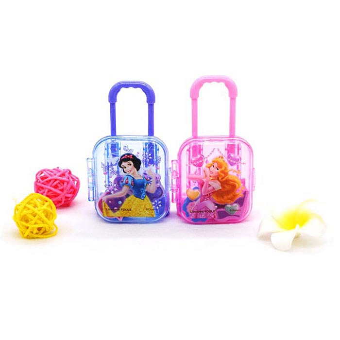 Princess Cartoon Boxed Trolley Rubber Novelty Erasers Snow White School Supplies Cute Gifts Mini Eraser