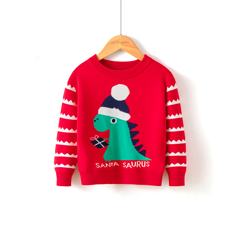 2021 Baby Girls Boys Sweater Christmas Costume Autumn Children Clothing Knitwear Boy Girl Pullover Knitted Sweater Kids Sweaters 6
