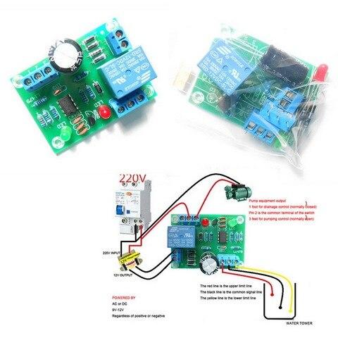 Módulo do Sensor do Controlador de Nível Líquido da Água da Baixa Detecção de Nível de Água Módulo do Sensor Pressão Faça Você Mesmo dc 12v Kit