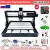 EU/RU/US CNC 3018 Pro 500mW 2500mW 5500mW 15W Laser Engraving Router Machine for Wood Working GRBL Offline Control