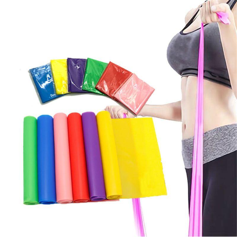 5 sztuk płaski zespół oporu Pilates joga gumką sprzęt do ćwiczeń proste rozciąganie trening Fitness dla całego ciała nogi Cr