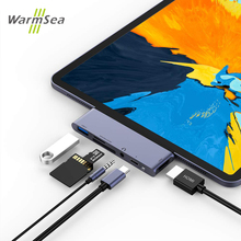 Hub USB C Type C Với 4K HDMI USB C PD TF SD USB 3.0 Cổng Jack 3.5 Mm USB Loại C Cho iPad Pro 2018 MacBook Pro/Air