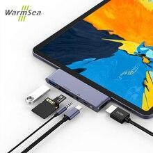 USB C محور نوع C محول مع 4K HDMI USB C PD TF SD USB 3.0 3.5 مللي متر جاك ميناء USB نوع C قفص الاتهام لباد برو 2018 ماك بوك برو/الهواء