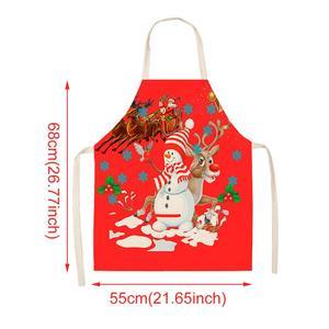 Image 4 - Natale Grembiule da Cucina di Natale Buon Natale Decorazioni per La Casa 2019 Ornamenti di Natale Cristmas Decorazione di Natale Navidad Nuovo Anno 2020