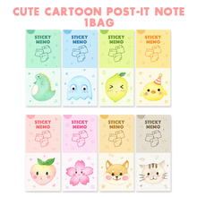 Cute Cartoon Post-it Note. 1Bag/30 Sheets Creative Message Memo Sticky Note Office School