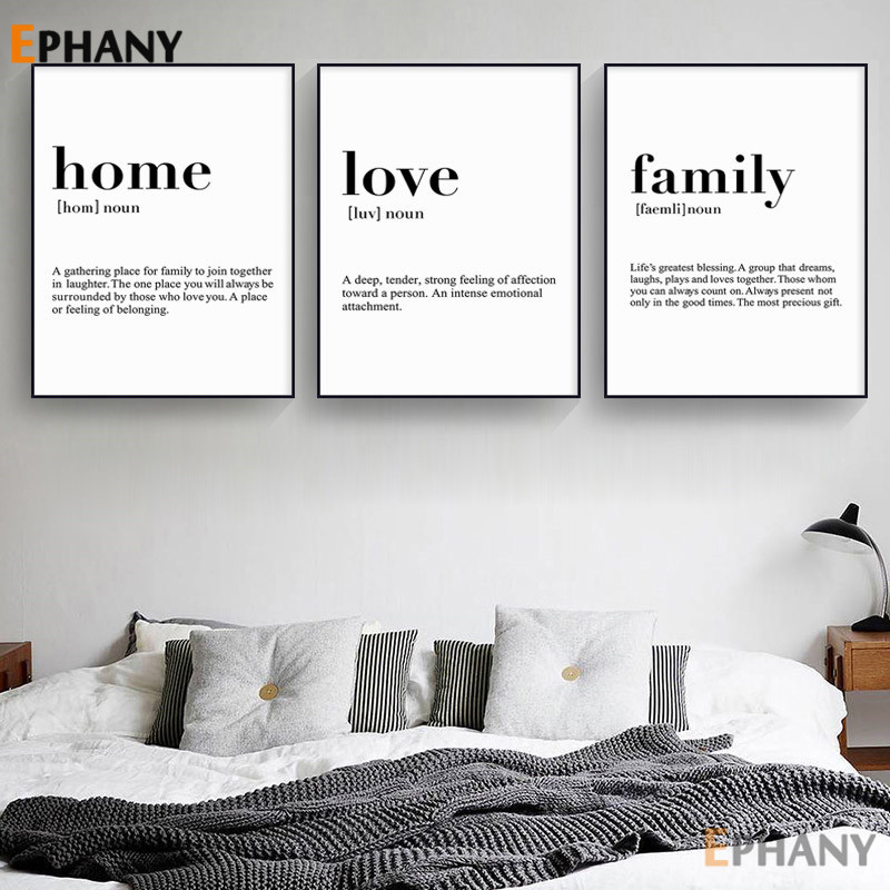 Home Poster Wall Art Decor Room Gift Home Definition Print Unframed