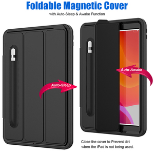 Image 2 - For iPad 7 2019  Case Pencil holder For apple iPad 10.2 inch tablet Kids Shockproof Heavy Duty TPU Hard Stand Cover A2197