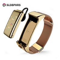 SLDBPHRS B6-reloj inteligente deportivo para hombre y mujer, pulsera con auriculares bluetooth, pantalla a color, multifunción, llamada, dos en uno