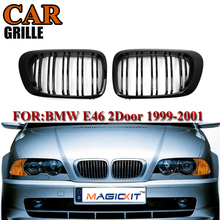 MagicKit1 Pair Front Kidney Grille Car Racing Grills for BMW 3 Series E46 4 Doors 99-02 318i 330ci 323ci Car Styling Accessories цена 2017