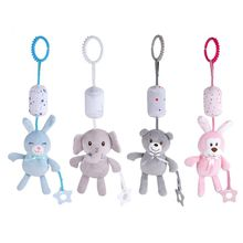 Baby Kids Rattle Toys Cartoon Animal Hand Bell Infant Teether Crib Pendant Gifts 67JC