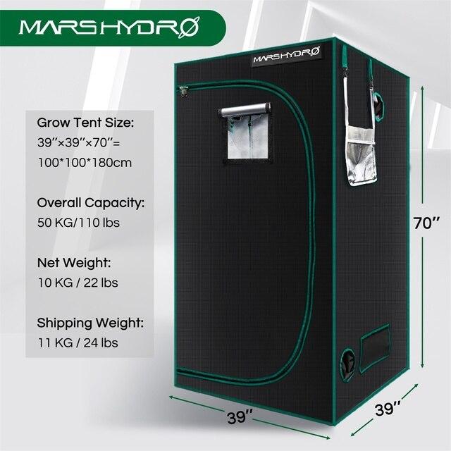 Marshydro 100x100x180cm Grow Tent 1680D indoor  4