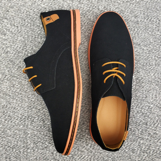 Spring Suede Leather Men Shoes cb5feb1b7314637725a2e7: Black|Blue|Brown|camel|Gray|Green