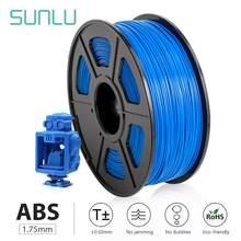 Sunlu Abs 3D Printer Filamenten 1.75Mm 2.2LBS/1Kg Met Spool Zwart Abs Filament