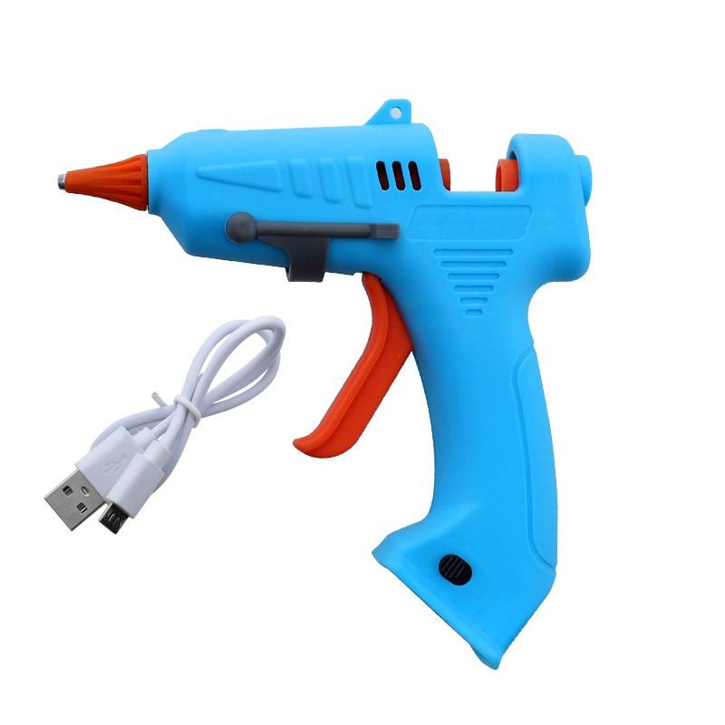 Glue Gun Hot Melt ElectricTrigger DIY Adhesive Crafts /& 10 Glue Sticks