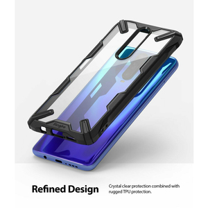 Image 2 - Ringke fusion x para xiaomi poco x2 case transparente pc duro moldura traseira macia tpu para redmi k30 cover
