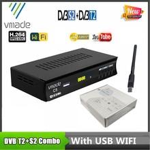 2020 استقبال الأقمار الصناعية HD الرقمية DVB T2 + S2 موالف التلفزيون المستقبلات MPEG4 DVB T2 استقبال التلفزيون S2 موالف التلفزيون شحن مجاني دعم واي فاي