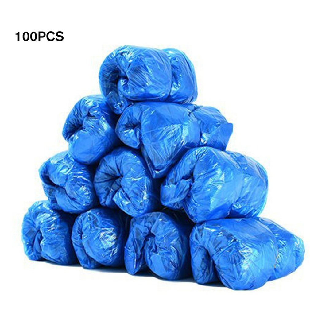 Plastic Disposable Shoe Covers Rain Outdoor Carpet Waterproof Shoe Cover Dispenser Cycling Overshoes Protector