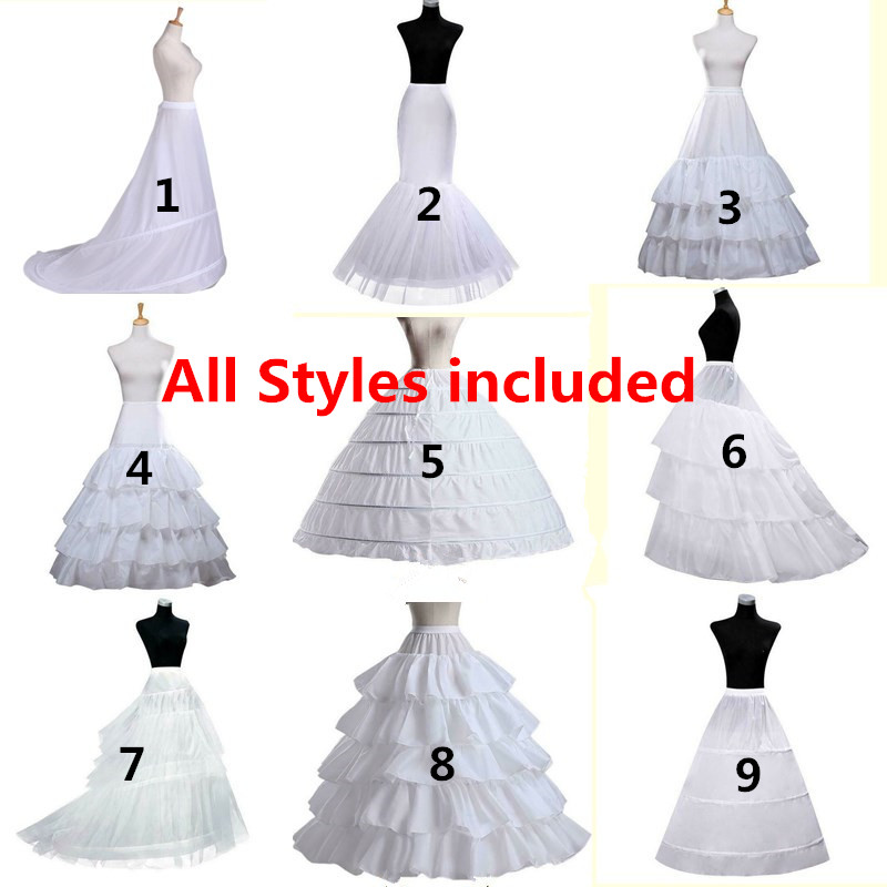 Bridal Petticoat Crinoline Underskirt Wedding Dress Hoop Lolita Petticoat Long Fancy Slips White Petticoat Rockabilly Tulle