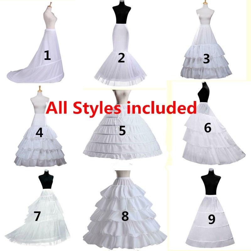 Bridal Petticoat Crinoline Underskirt Wedding Dress Hoop Lolita Petticoat Long Fancy Slips White Petticoat Rockabilly Tulle