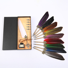 European retro top feather pen, wedding ceremony Christmas gift must be, customizable gift box set marvis black box gift set