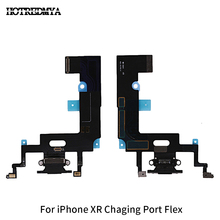 Charger Flex For iPhone XR USB Charging Port Dock Connector With Micphone Flex Cable Replacement Parts цена