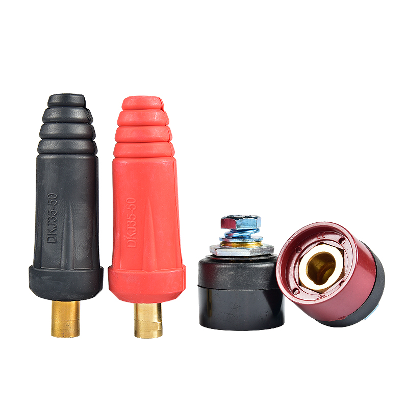 Europe Welding Machine Quick Fitting Male Cable Connector Socket Plug Adaptor DKJ 10-25 35-50 50-70
