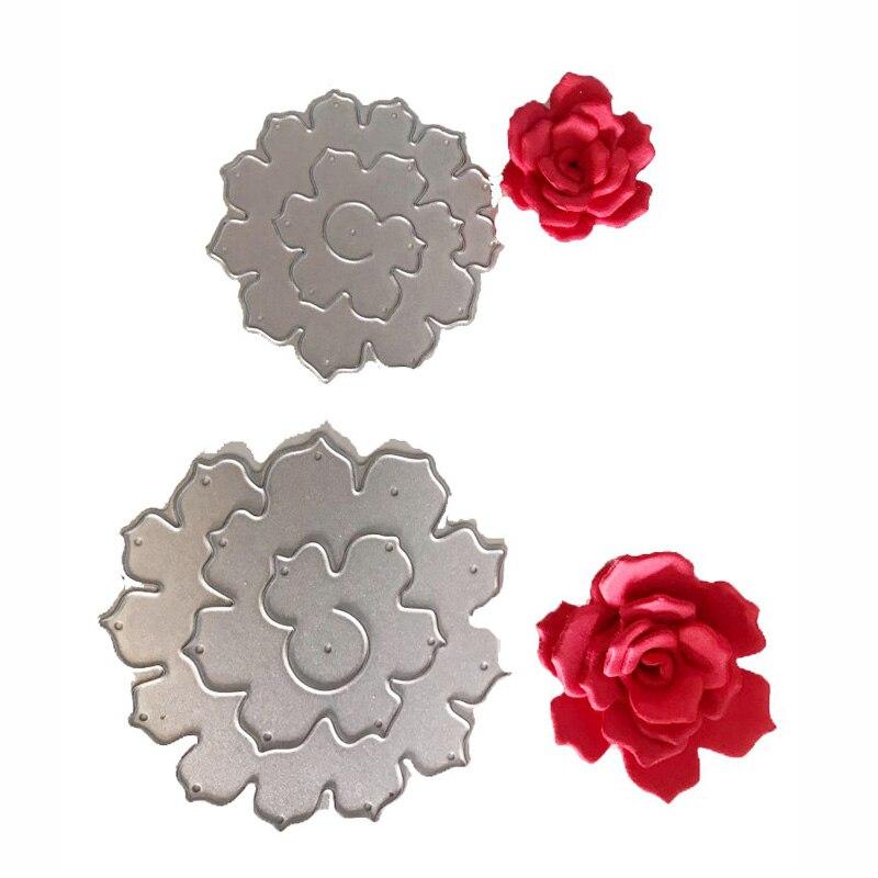 3D Rose Flower Metal Cutting Dies Stencil Frame Craft Dies for DIY Scrapbooking Photo album Paper Card Decorative