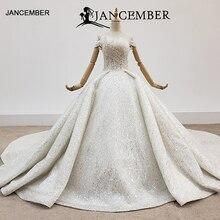 HTL1415 weding vestido fora do ombro plus size vestido de noiva superior com pérola e pérola do vestido de casamento todo com seqrobe mariage fille