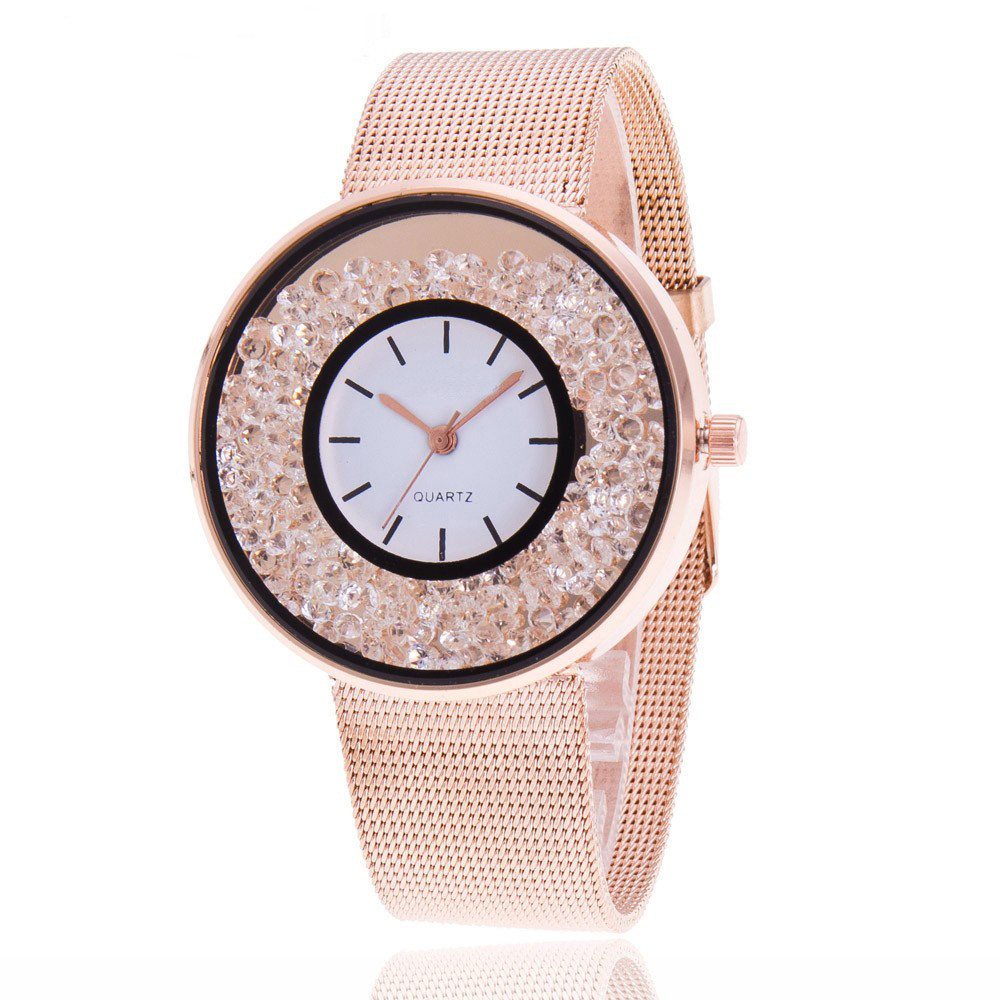 Casual Women Romantic Wrist Watch Leather Rhinestone Designer Ladies Clock Simple Gfit Montre Femme Christmas Reloj Mujer Hot&50