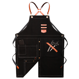 Senyue джинсовый фартук для барбекю, нагрудник с кожаными ремнями, Кухонный Фартук для женщин, мужчин, парикмахеров, готовки, ресторанов, офици...