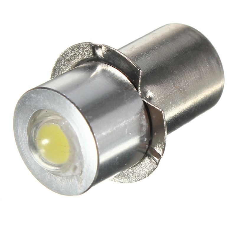 P13.5S 1W White Flashlight Replacement LED Bulb Emergency Lantern Work Light Lamp DC 3V