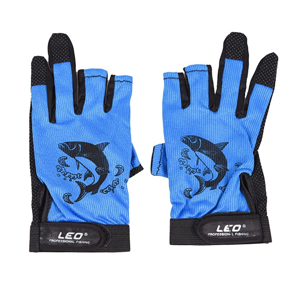 1 Pair 3 Fingerless Fishing Gloves Breathable Quick Drying Anti-slip Fishing Gloves Winter Fishing For Unisex Carp Finger Glove