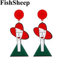 Fishsheep Корейский Новый прекрасный Леди акриловые серьги личности