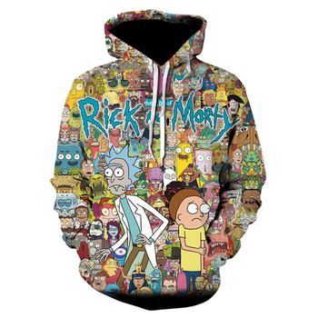 Ricky Hoodies 3D Printed Men Sweatshirt Fashion 2020 Casual Hip Hop Streetwear cartoon anime Hoodie mens clothing oversize 1