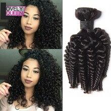 Прекрасная королева волос перуанский человеческие волосы афро кудрявый вьющиеся волосы переплетения 3 пучки расширения вьющиеся волосы, не Реми волосы для чернокожих женщин