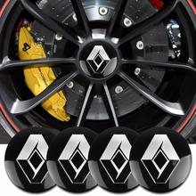 4PCS 56mm Car Wheel Center Hub Caps Stickers For Renault Twingo Megane 2 3 Duster Logan Clio Laguna 2 Captur Car Styling Decals