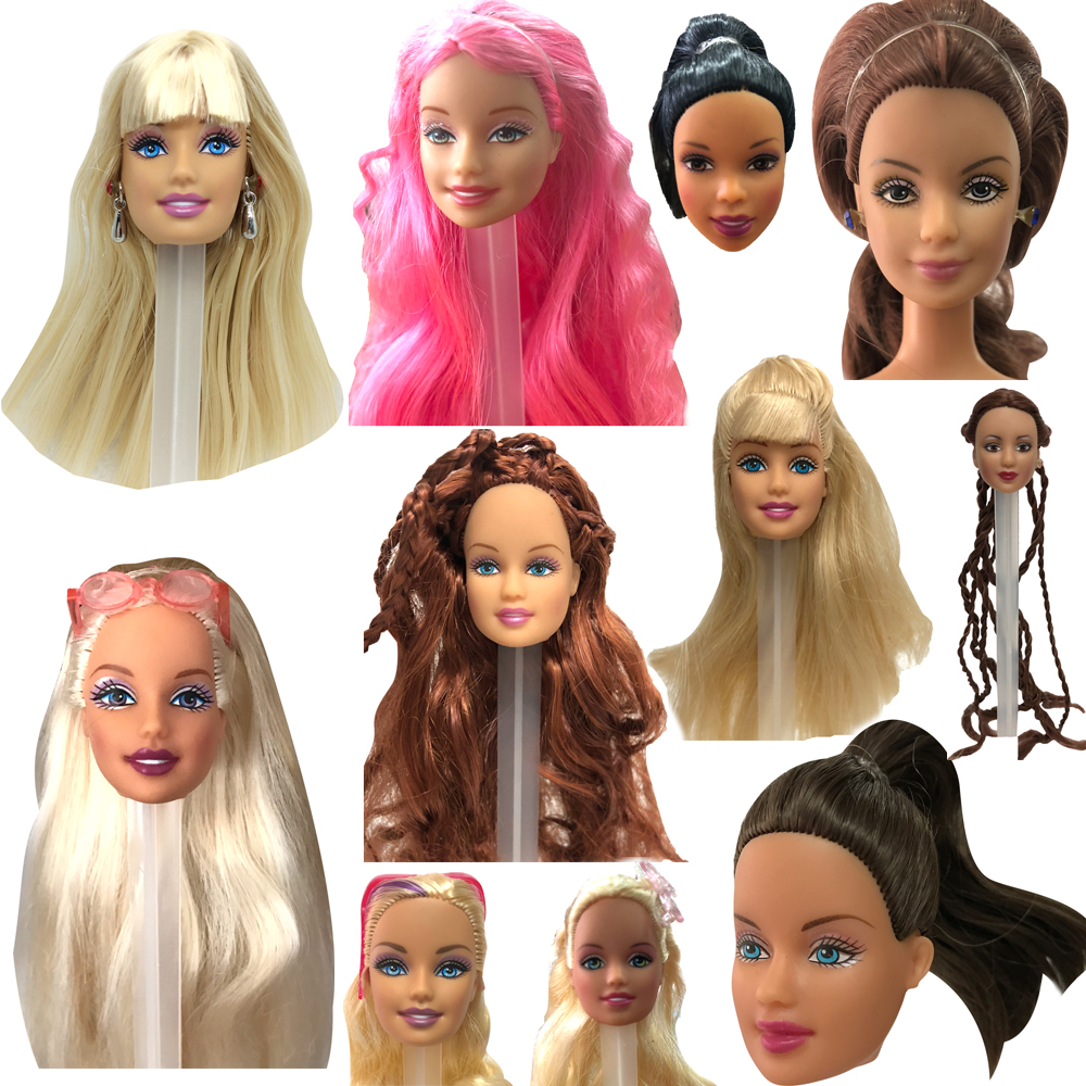 NK Mixed Style Doll Head With Long Hair Girl Doll Accessories DIY Gift  For Girls' Doll 11  Inches Doll Head Hot Sale JJ