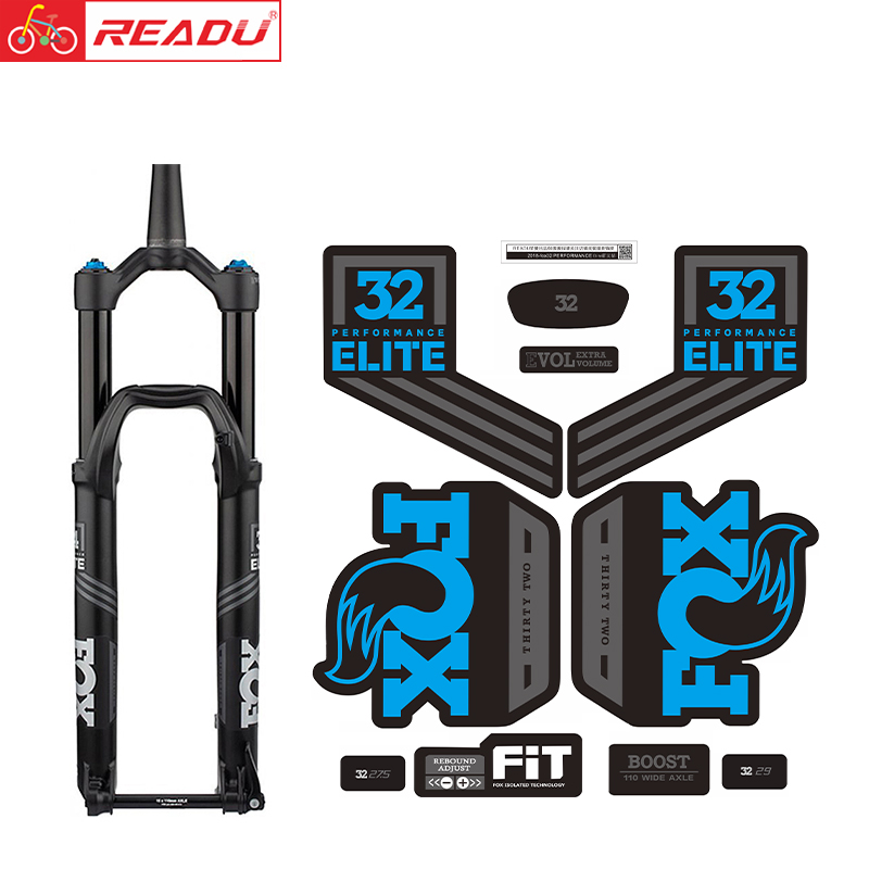 2018-fox32 PERFORMANCE Elite Fork Stickers MTB Bike Fox 32 Fork Decal Bicycle Fork Stickers