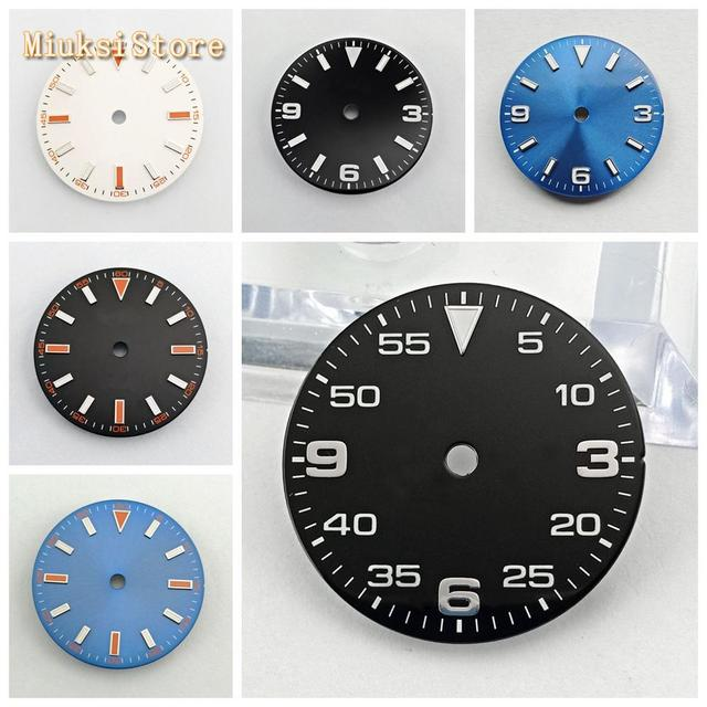 Bliger sterile 29mm luminous watch dial fit ETA 2824/2836,Mingzhu DG 2813/3804,Miyota 8205/8215/821A/82 series movement