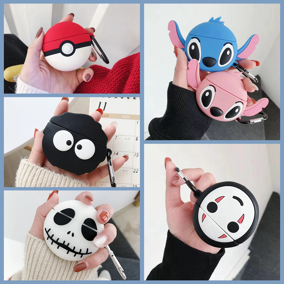 For Huawei Freebuds 3 Case Cute Cartoon Grimace Briquettes Earphone Cover Fundas For Freebuds Free Buds 3 Kawaii Soft Case