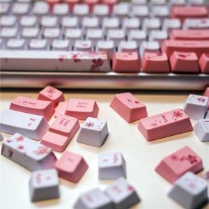 Image 2 - OEM PBT Keycaps Full Set Mechanical Keyboard Keycaps PBT Dye Sublimation Keycap For All Sakura Keycap Set