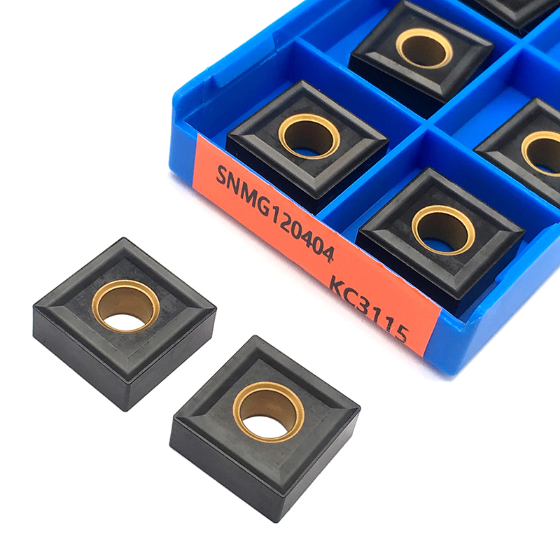10PCS SNMG120404 KC3115 High Quality Carbide Inserts External Turning Tool SNMG <font><b>120404</b></font> Blades CNC Lathe Tools For Cast Iron image