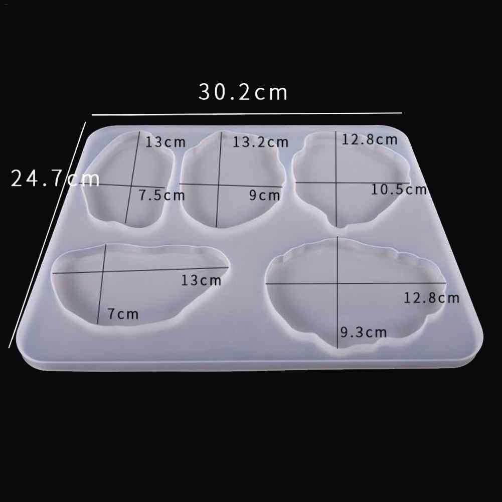 1 قطعة راتينج السليكون قوالب غير النظامية الوقايات قلادة قالب لصنع المجوهرات DIY شفافة الحرفية زينة الراتنج الحلي