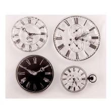 Clock Transparent Clear Silicone Stamp/Seal for DIY scrapbooking/photo album Decorative clear stamp sheets Art Handmade Gift