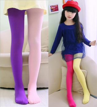 New Spring Summer Patchwork Girls Tights Velvet Pantyhose Baby Dancing Tights Mix Color Stockings For Girls Age 3-12T 1