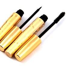 2PCS/Sets Mascara  Liquid Double Golden Natural Fibers Enlarge thick curling Waterproof Makeup Tools