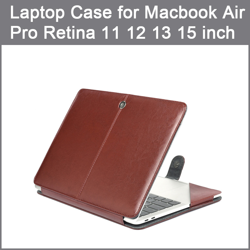 PU leather Bag Case For Apple <font><b>MacBook</b></font> Air <font><b>Pro</b></font> Retina 11 12 13 15 2016 2017 New <font><b>Pro</b></font> 13 15 inch with Touch Bar + Keyboard <font><b>cover</b></font> image