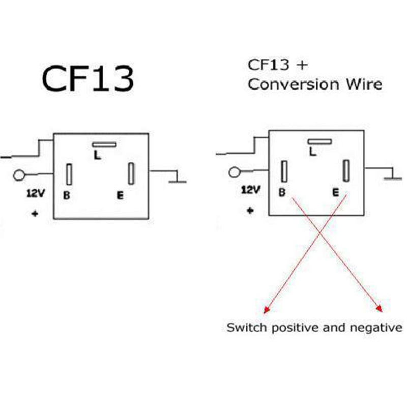 electronic flasher relay wiring diagram 3 pin cf 13 led flasher fix w conversion wire for both cf13 and  3 pin cf 13 led flasher fix w